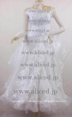 画像1: 社交ダンス モダンドレス1746タイプ (1)