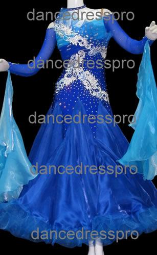 画像1: 社交ダンス モダンドレス2045タイプ (1)