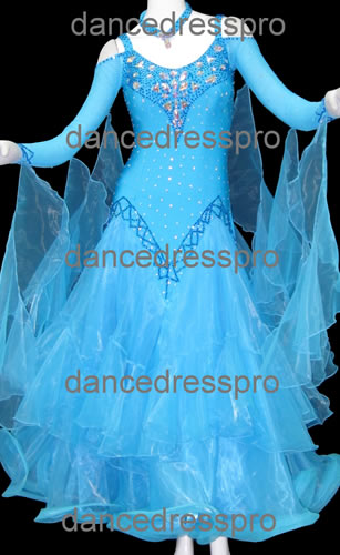 画像1: 社交ダンス モダンドレス2087タイプ (1)