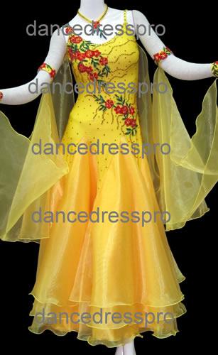 画像1: 社交ダンス モダンドレス2123タイプ (1)