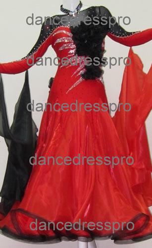 画像1: 社交ダンス モダンドレス2144タイプ (1)