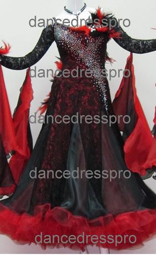 画像1: 社交ダンス モダンドレス2145タイプ (1)