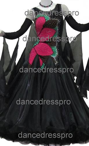画像1: 社交ダンス モダンドレス2163タイプ (1)