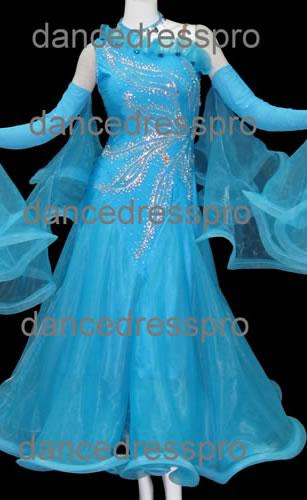 画像1: 社交ダンス モダンドレス2172タイプ (1)