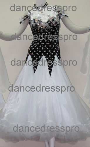 画像1: 社交ダンス モダンドレス2177タイプ (1)