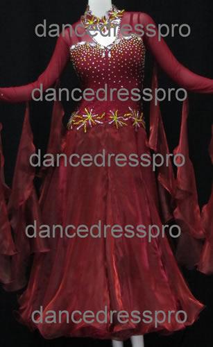 画像1: 社交ダンス モダンドレス2186タイプ (1)