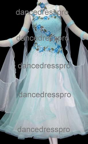 画像1: 社交ダンス モダンドレス2234タイプ (1)