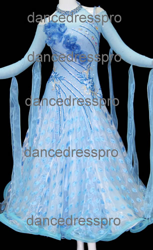 画像1: 社交ダンス モダンドレス2272タイプ (1)
