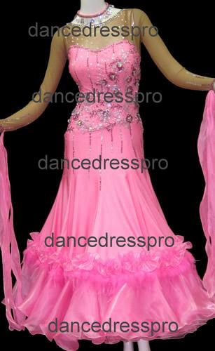画像1: 社交ダンス モダンドレス2468タイプ  Mサイズ (1)