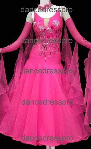 画像1: 社交ダンス モダンドレス2472タイプ  Mサイズ (1)