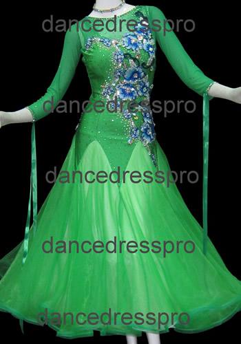 画像1: 社交ダンス モダンドレス2575タイプMサイズ (1)