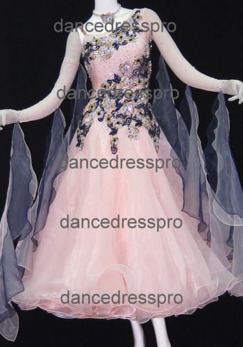 画像1: 社交ダンス モダンドレス2640タイプ (1)