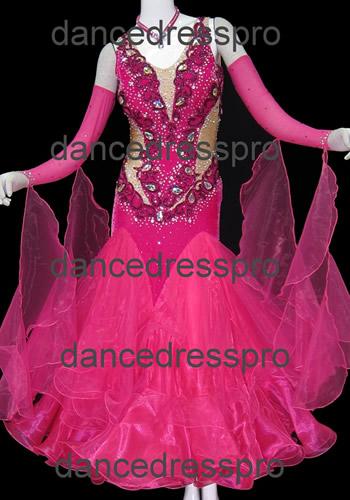 画像1: 社交ダンス モダンドレス2666タイプ (1)