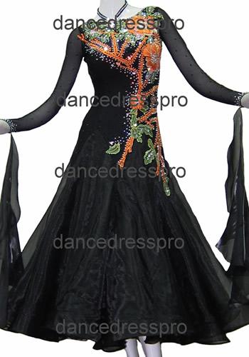 画像1: 社交ダンス モダンドレス2697タイプ (1)