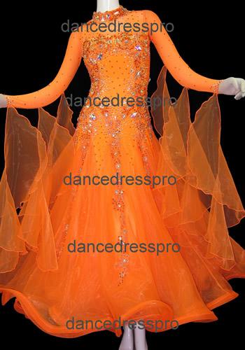 画像1: 社交ダンス モダンドレス2843タイプ (1)