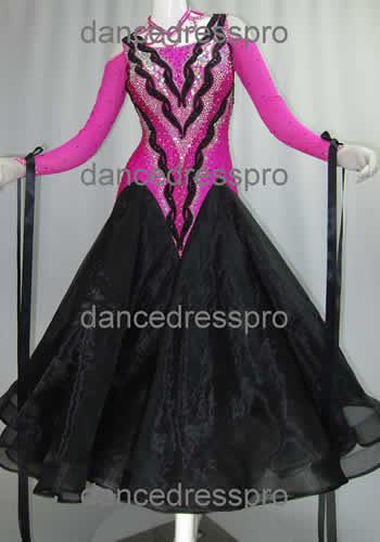 画像1: 社交ダンス モダンドレス2933タイプ (1)