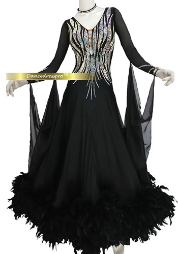 画像1: モダンドレスMサイズ ドレス丈約137cm (1)