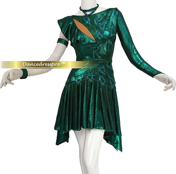 画像1: 社交ダンス ラテンドレス3116タイプ Mサイズ (1)